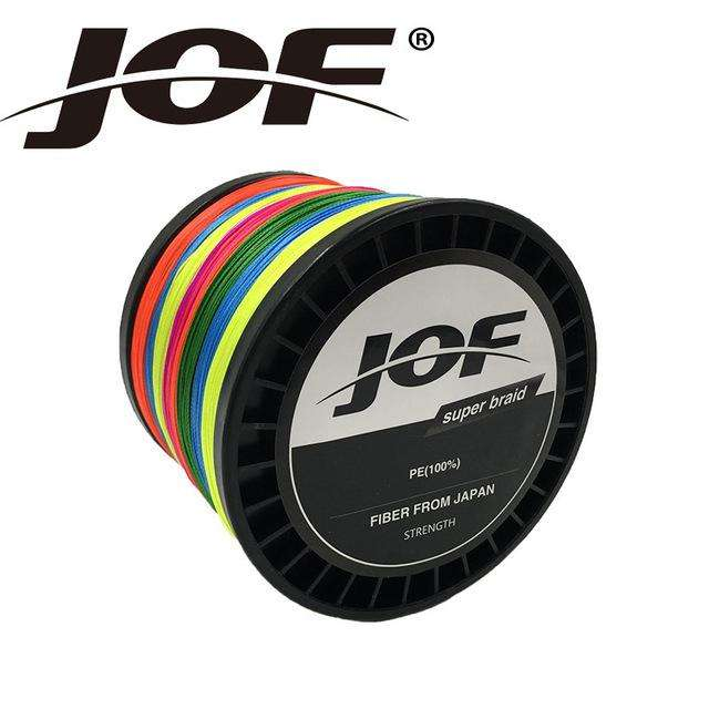 Fishing Trends Online Tackle Shop:Braid JOF 500m PE Material 0.6-20.0# Multicolour 8Strands Fishing Line,Multi with Green / 0.6