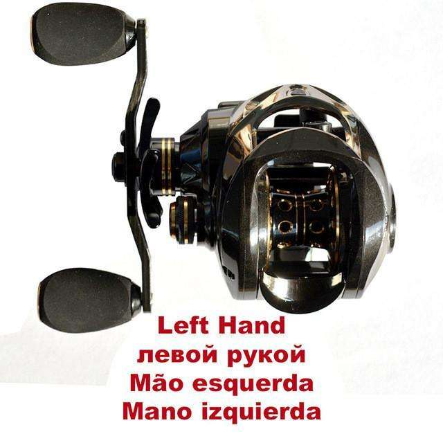 Reel Carbon Fiber 167G Two Brake Systems Baitcasting Fishing 18Bb High Speed Gear Ratio 7.2:1
