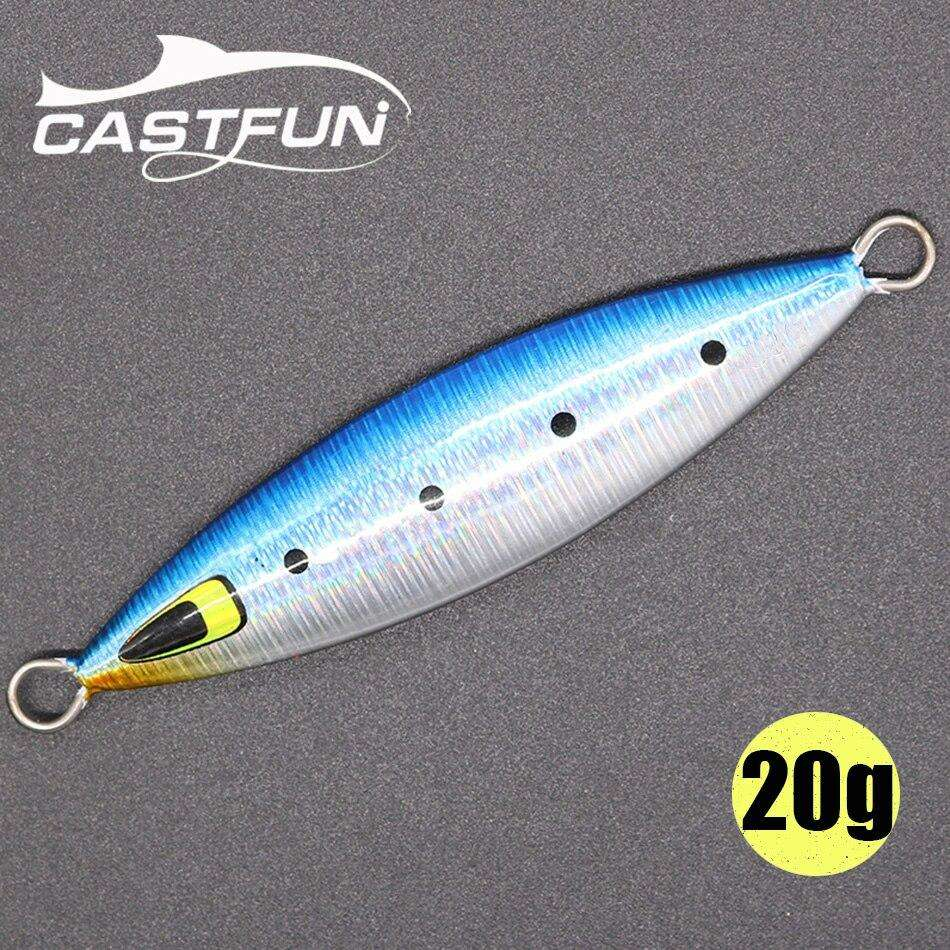 Fishing Trends Online Tackle Shop:CASTFUN Slow Jig 20g Jigging Lure Lead Fish Slow Pitch Jig Metal Jigs Sea Fishing Lures Saltwater Hard Bait