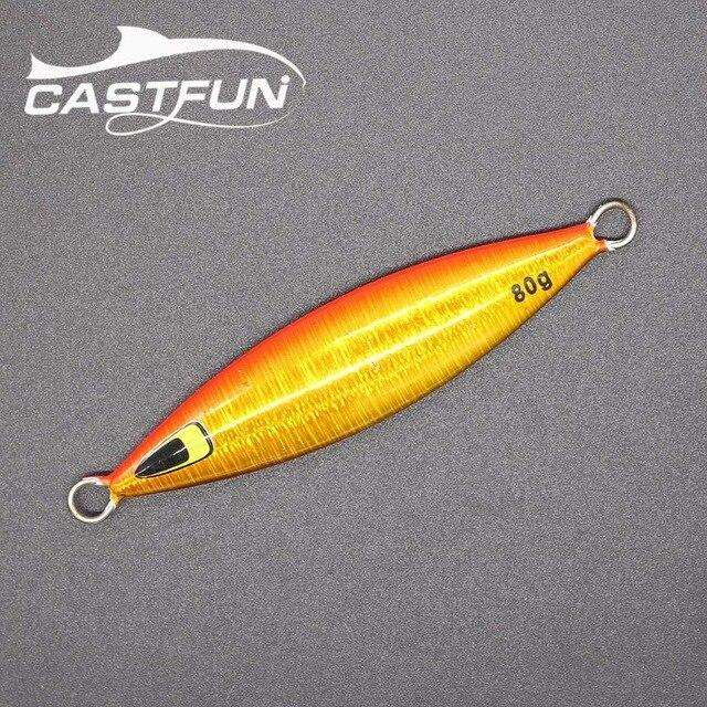 Fishing Trends Online Tackle Shop:CASTFUN Slow Jig 20g Jigging Lure Lead Fish Slow Pitch Jig Metal Jigs Sea Fishing Lures Saltwater Hard Bait,Golden / 20g
