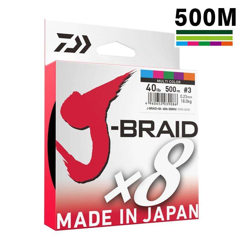 Fishing Trends Online Tackle Shop:DAIWA 8 Braided Fishing Line - Length:500m/550yds, 30-80lb, Diameter:0.2mm-0.35mm Japan PE braided line J-Braid Line SEA FISHING