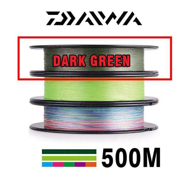 Fishing Trends Online Tackle Shop:DAIWA 8 Braided Fishing Line - Length:500m/550yds, 30-80lb, Diameter:0.2mm-0.35mm Japan PE braided line J-Braid Line SEA FISHING,Dark Green / 30LB-13KG-0.2MM / Mainline