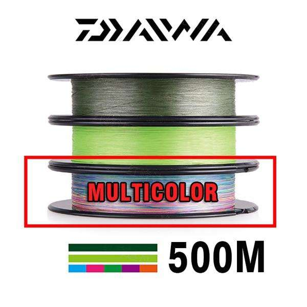 Fishing Trends Online Tackle Shop:DAIWA 8 Braided Fishing Line - Length:500m/550yds, 30-80lb, Diameter:0.2mm-0.35mm Japan PE braided line J-Braid Line SEA FISHING,Multicolor / 30LB-13KG-0.2MM / Mainline