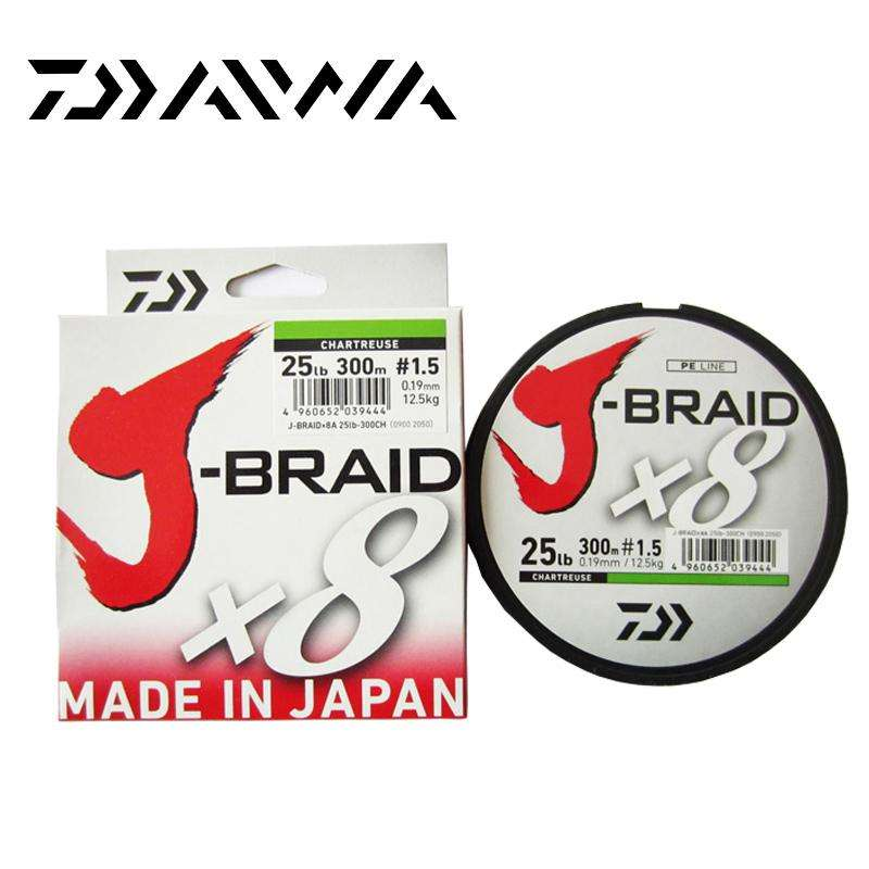 Fishing Trends Online Tackle Shop:Daiwa J-BRAID 8A 150M original green/grass green color  8 braided fishing line monofilament fishing line 10-60lb made in japan