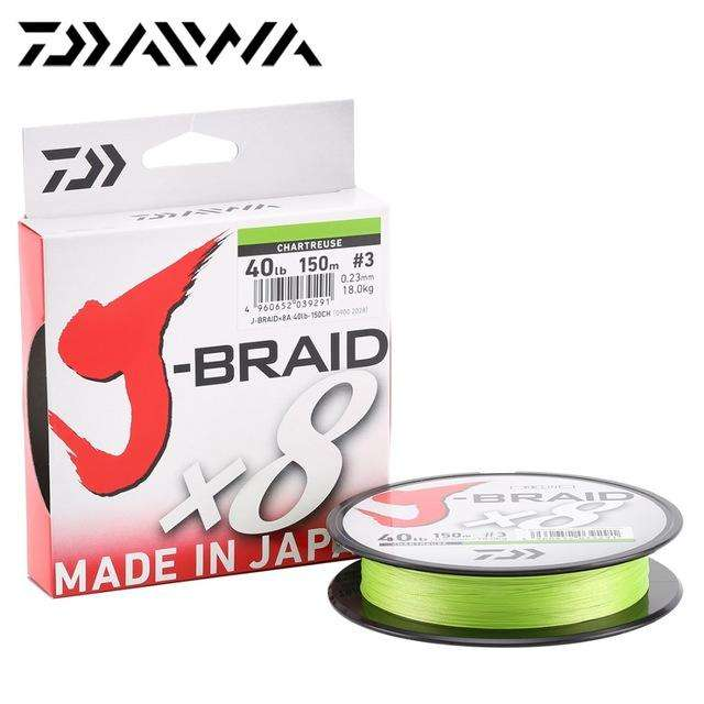 Fishing Trends Online Tackle Shop:Daiwa J-BRAID 8A 150M original green/grass green color  8 braided fishing line monofilament fishing line 10-60lb made in japan,Light green / 0.6
