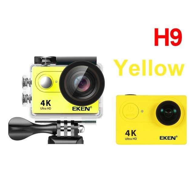 "Fishing Trends Online Tackle Shop:EKEN H9R / H9 Action Camera Ultra HD 4K / 25fps WiFi 2.0"" 170D Underwater Waterproof Helmet Video Recording Cameras Sport Cam,H9 yellow / China / Standard"
