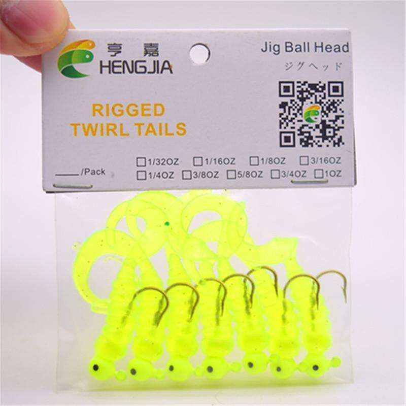 Lure Soft Fish Bait Jigs Barbed Hooks 7 Pieces Bag 2.7G/5Cm