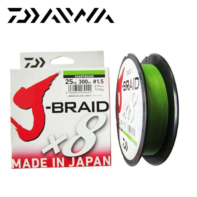 Fishing Trends Online Tackle Shop:Free Shipping Daiwa J-BRAID 8A 150M 100% Original multicolor 8 wire braid line monofilament 10-60lb fishing line made in japan