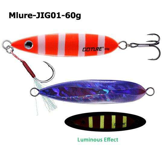Fishing Trends Online Tackle Shop:Goture Metal Jig Spoon Fishing Lure 40g 60g Slow Pitch Shore Casting Jigging Lead Fish Artificial Bait Sea Bass Fishing Tackle,Mlure-JIG01-60-3