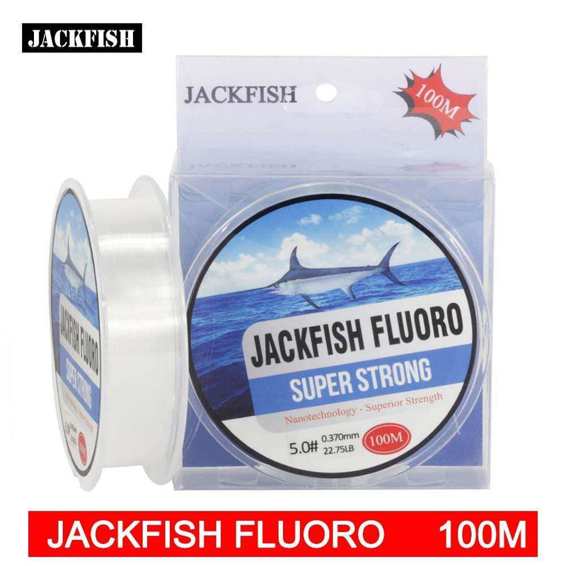 Line Leader Jackfish 100M Fluorocarbon Fishing 5-30Lb Clear