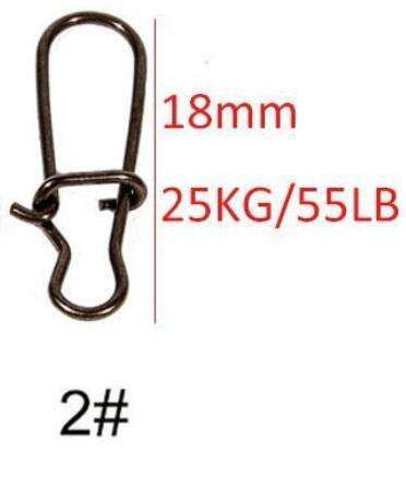 Snaps 25Pcs/lot Duo Lock Size 0#-4# Black Stainless Steel Tackle Swivel