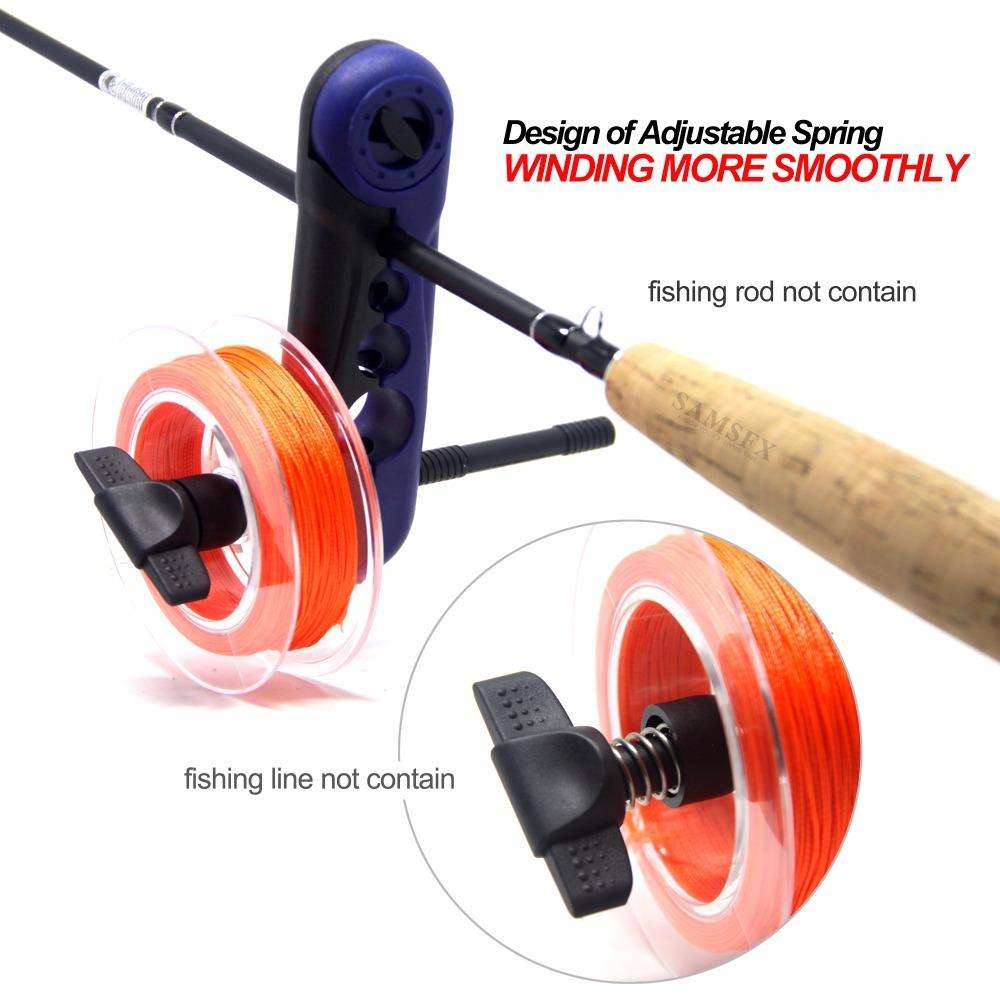 Fishing Trends Online Tackle Shop:Line Spooler Mini Portable Fishing Reel Line Spooler System Works on Any Size Rod