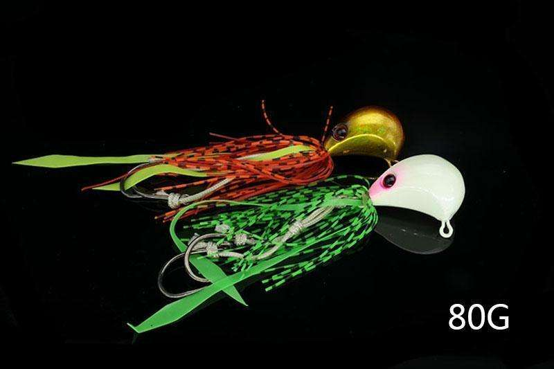 Lure 1Pcs/pack 80G Lead Jig Sinking Octopus Squid Bait Baitspinner Lures