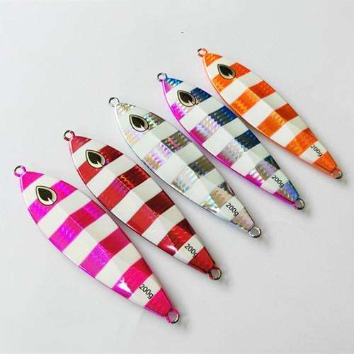 Fishing Trends Online Tackle Shop:Lure 60g80g100g150g Sinking Slow jig Metal Iron Plate Luminous
