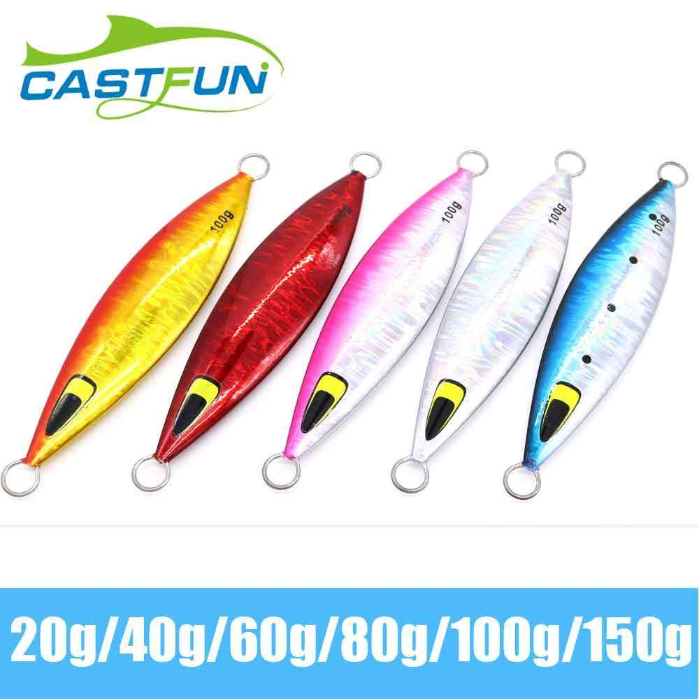 Fishing Trends Online Tackle Shop:Lure Castfun Slow pitch Jig Saltwater 20g 40g 60g 80g 100g 150g 5pcs/lot