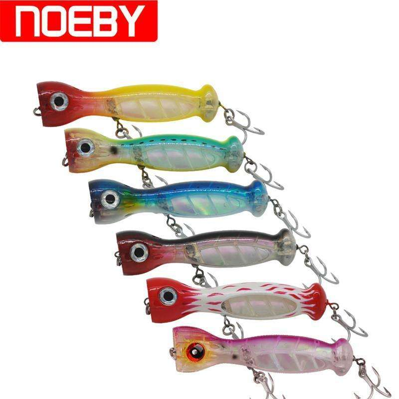 Lure Noeby Popper 130Mm 50G Vmc Hook Floating Hard Abs Plastic