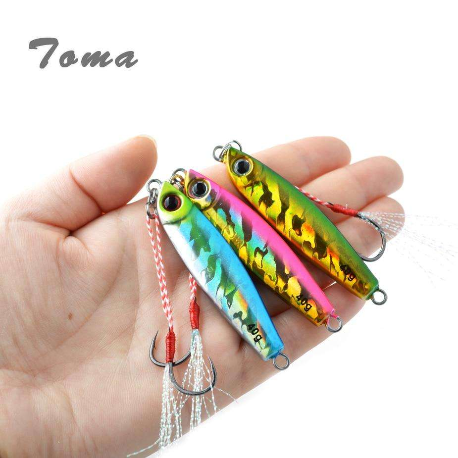 Fishing Trends Online Tackle Shop:Lure TOMA 1PCS/lot Mini Jig Slow Pitch 7g 14g 28g 40g