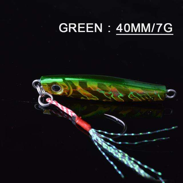 Fishing Trends Online Tackle Shop:Lure TOMA 1PCS/lot Mini Jig Slow Pitch 7g 14g 28g 40g,green 40mm 7g