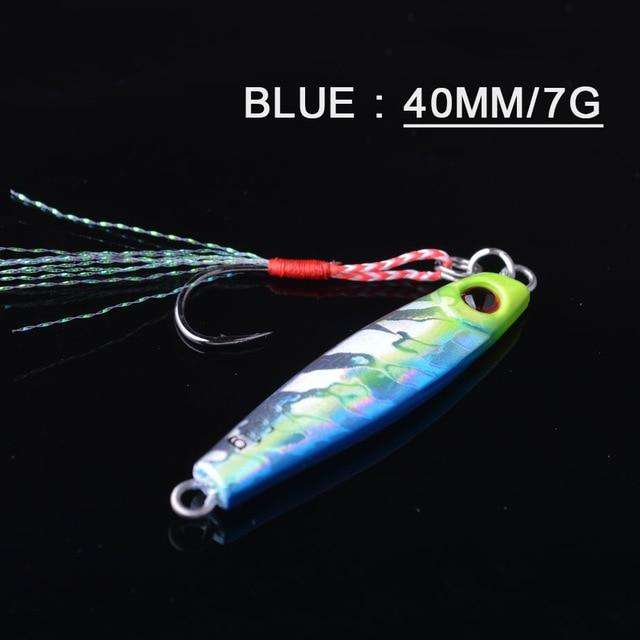 Fishing Trends Online Tackle Shop:Lure TOMA 1PCS/lot Mini Jig Slow Pitch 7g 14g 28g 40g,blue 40mm 7g