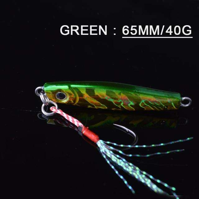 Fishing Trends Online Tackle Shop:Lure TOMA 1PCS/lot Mini Jig Slow Pitch 7g 14g 28g 40g,green 65mm 40g