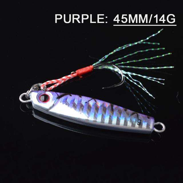 Fishing Trends Online Tackle Shop:Lure TOMA 1PCS/lot Mini Jig Slow Pitch 7g 14g 28g 40g,purple 45mm 14g