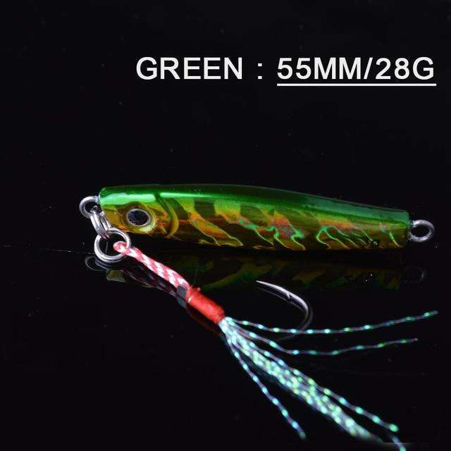 Fishing Trends Online Tackle Shop:Lure TOMA 1PCS/lot Mini Jig Slow Pitch 7g 14g 28g 40g,green 55mm 28g