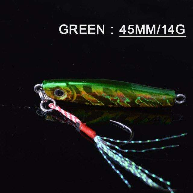 Fishing Trends Online Tackle Shop:Lure TOMA 1PCS/lot Mini Jig Slow Pitch 7g 14g 28g 40g,green 45mm 14g