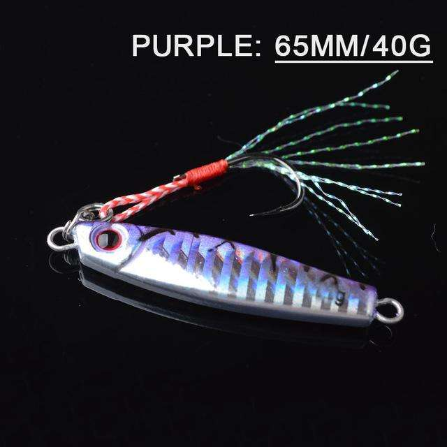 Fishing Trends Online Tackle Shop:Lure TOMA 1PCS/lot Mini Jig Slow Pitch 7g 14g 28g 40g,purple 65mm 40g