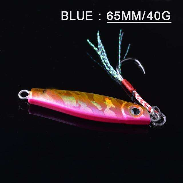 Fishing Trends Online Tackle Shop:Lure TOMA 1PCS/lot Mini Jig Slow Pitch 7g 14g 28g 40g,pink 65mm 40g