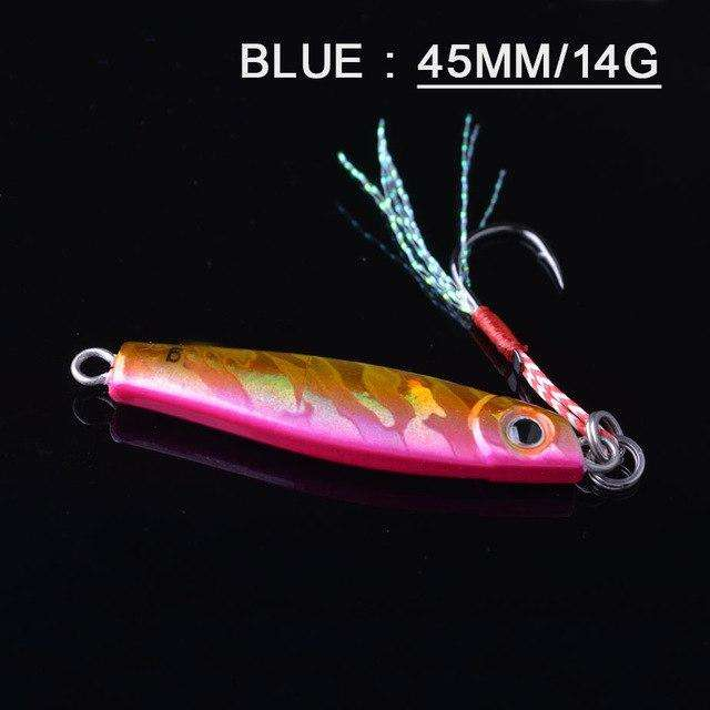 Fishing Trends Online Tackle Shop:Lure TOMA 1PCS/lot Mini Jig Slow Pitch 7g 14g 28g 40g,pink 45mm 14g