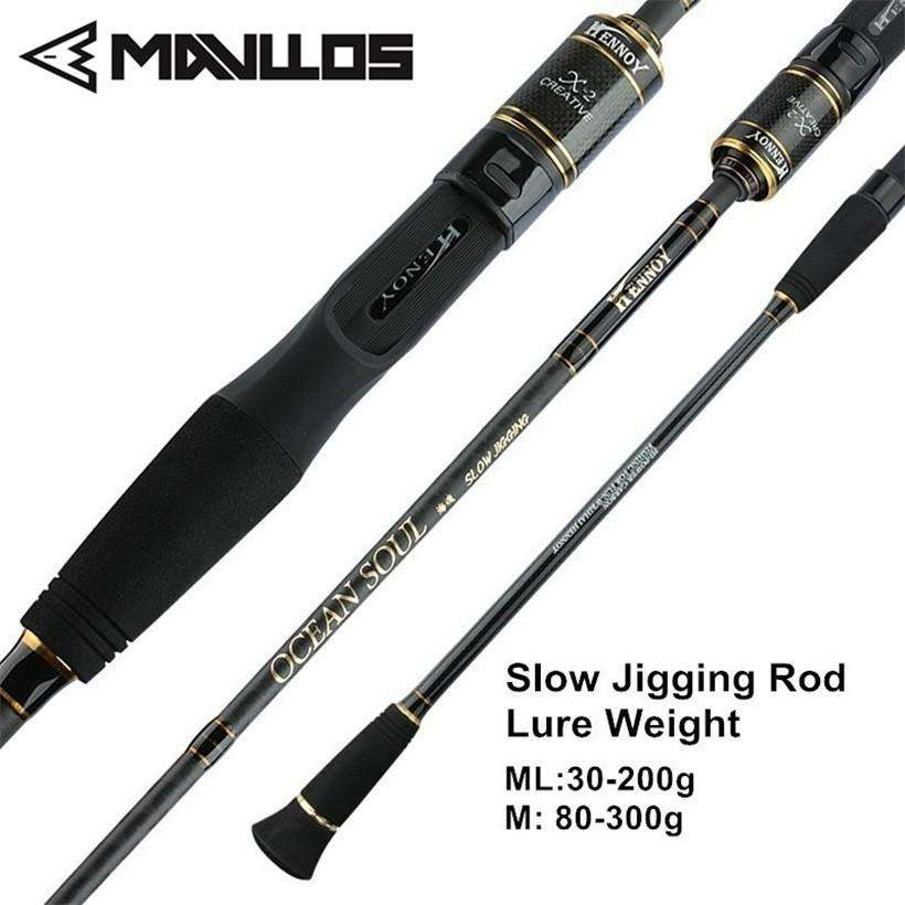 Fishing Trends Online Tackle Shop:Mavllos 1.95m ML/M Tip Slow Jigging Rod Lure Weight 30-200g/80-300g  2 Section Ultralight Saltwater Fishing Casting Spinning Rod