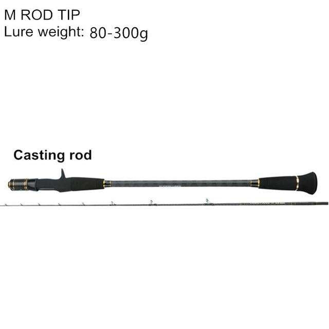 Fishing Trends Online Tackle Shop:Mavllos 1.95m ML/M Tip Slow Jigging Rod Lure Weight 30-200g/80-300g  2 Section Ultralight Saltwater Fishing Casting Spinning Rod,Red / 1.95 m