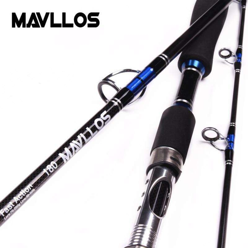 Fishing Trends Online Tackle Shop:Mavllos Japan Guide Lure Weight 70-250g Sea Boat Jigging Fishing Rod 2.1M 3 Sections Carbon Fiber Saltwater Spinning Fishing Rod