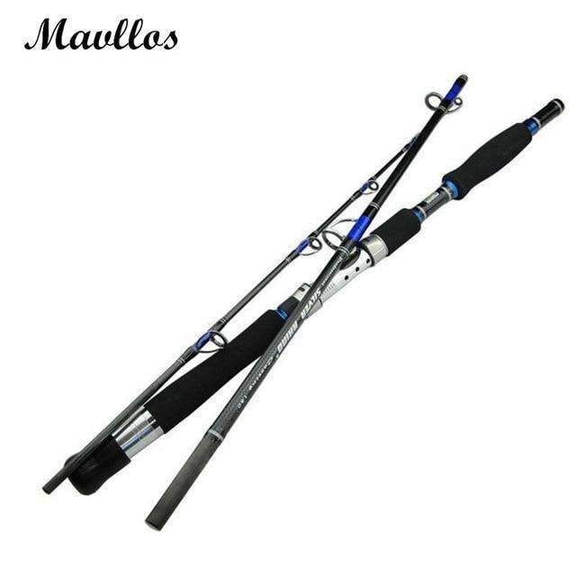 Fishing Trends Online Tackle Shop:Mavllos Japan Guide Lure Weight 70-250g Sea Boat Jigging Fishing Rod 2.1M 3 Sections Carbon Fiber Saltwater Spinning Fishing Rod,Blue / 1.8 m / China
