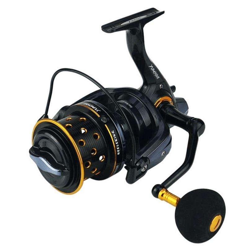 Fishing Trends Online Tackle Shop:New japanese made material 8000-10000 Size full metal spool Spinning Jigging surf Reel 14BB 18KG drag power carp saltwater reel