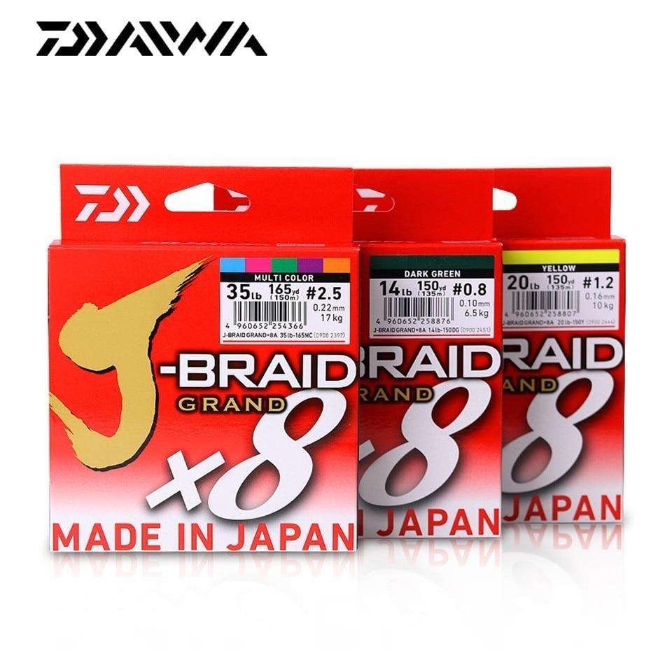 Fishing Trends Online Tackle Shop:Newest Original DAIWA J-BRAID GRAND Fishing Line 135M 150M  300M 8 Strands Braided PE Line Fishing TackleMade in Japan