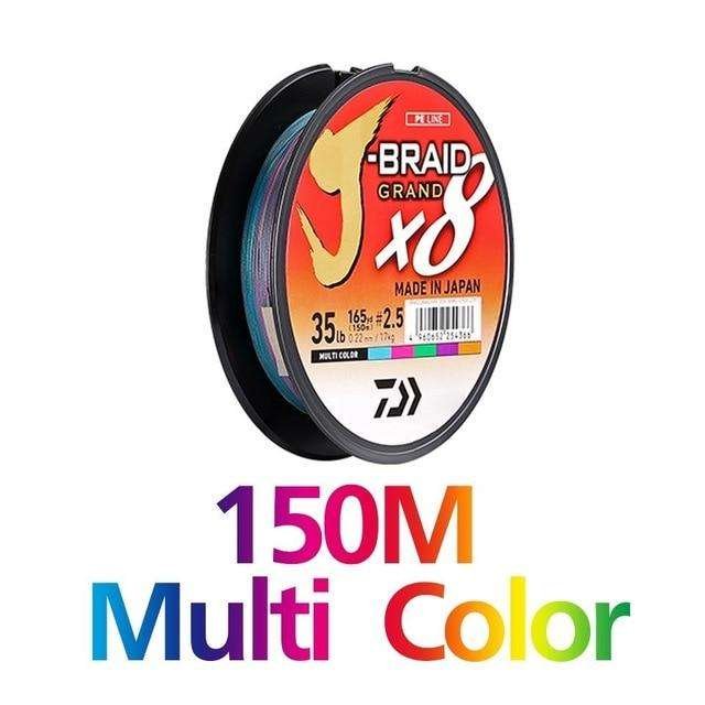 Fishing Trends Online Tackle Shop:Newest Original DAIWA J-BRAID GRAND Fishing Line 135M 150M  300M 8 Strands Braided PE Line Fishing TackleMade in Japan,150M MULTI COLOR / 0.6-0.06mm-10LB
