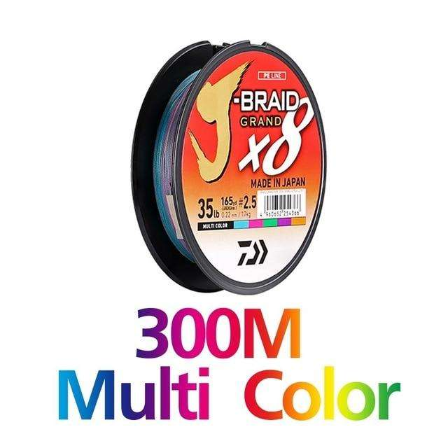 Fishing Trends Online Tackle Shop:Newest Original DAIWA J-BRAID GRAND Fishing Line 135M 150M  300M 8 Strands Braided PE Line Fishing TackleMade in Japan,300M MULTI COLOR / 0.6-0.06mm-10LB