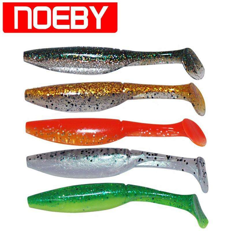 Lure Noeby 8Pcs Fishing Bait 10Cm 9G Soft Plastic 9 Colours