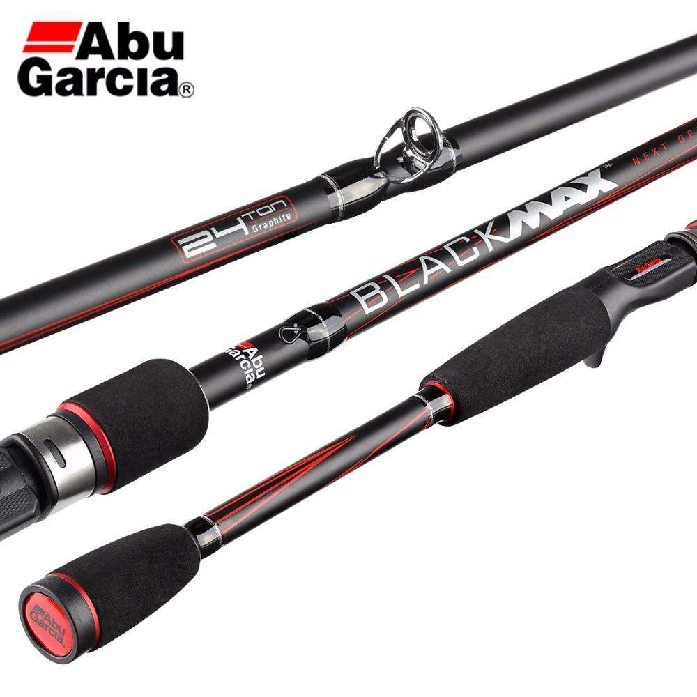 Fishing Trends Online Tackle Shop:Original Abu Garcia Brand Black Max BMAX Baitcasting Lure Fishing Rod 1.98m 2.13m 2.44m M Power Carbon Spinning Fishing Stick
