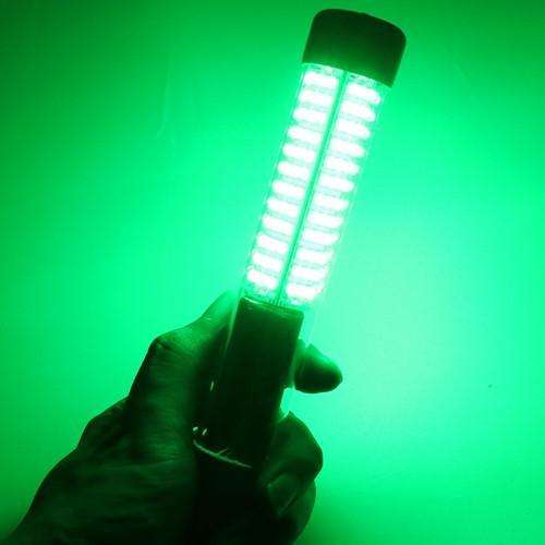 Light 12V/10.8W Led Fishing Submersible With 5M Cord White Blue Green Lamp Tool