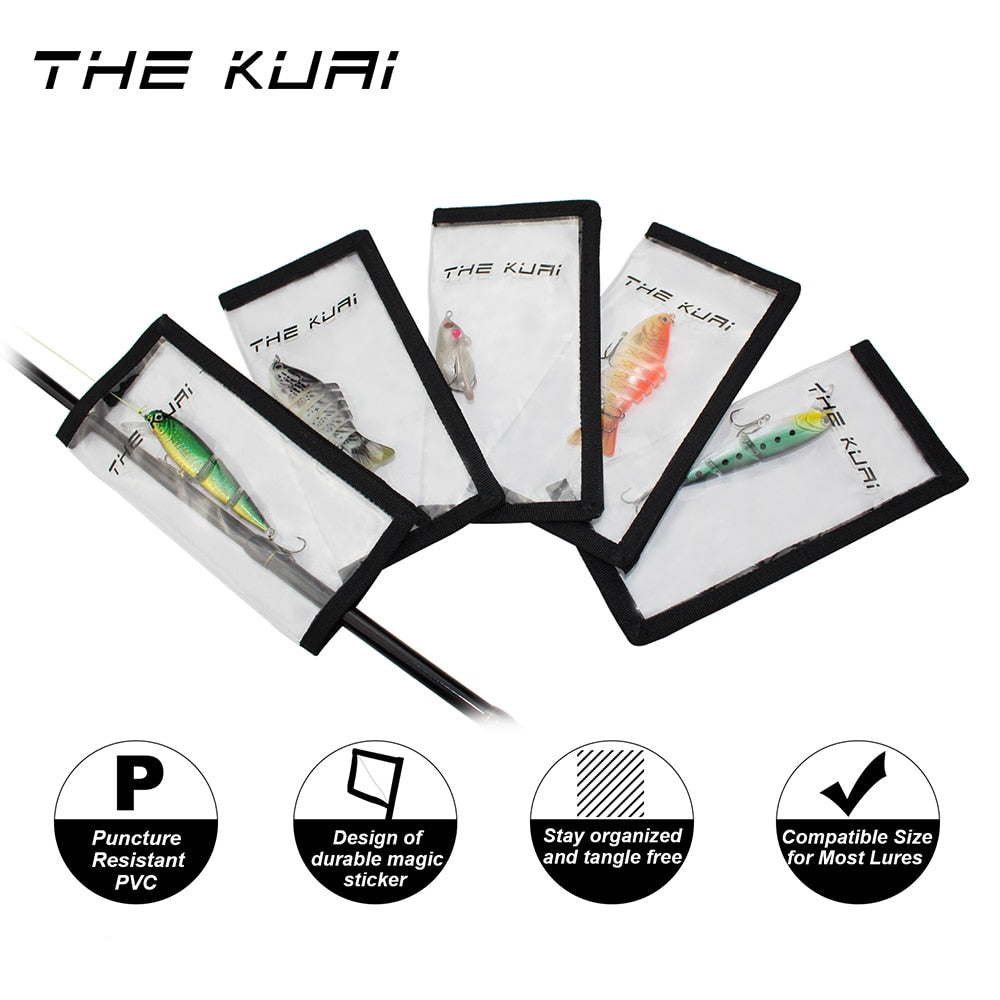 Fishing Trends Online Tackle Shop:Lure THEKUAI Lure Cover Lure Wrap Protective Covers Clear PVC Hook Wraps For lures on your rod 5pcs/box