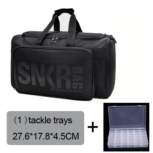 Fishing Trends Online Tackle Shop:Bag Large Fishing Reel Bag Waterproof Tackle Bag Outdoor Travel Bag XL,bag 1 tackle trays / 40L