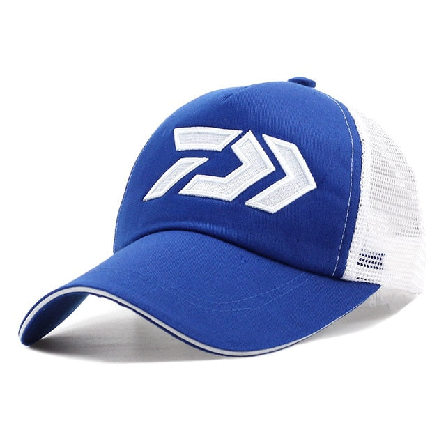 Fishing Trends Online Tackle Shop:Hat DAIWA Breathable Mesh Sunshade Baseball Cap Adjustable,Blue / 55-60cm