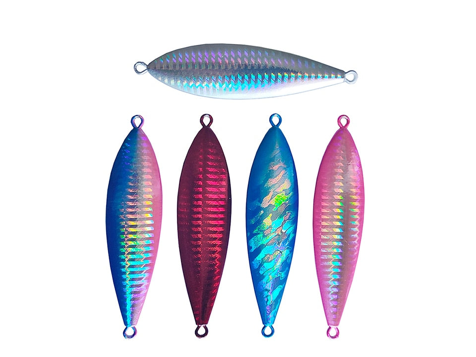 Fishing Trends Online Tackle Shop:Lure Deshion Laser Body Slow Jigging Lures Metal 60g 80g 100g Slow Jigs