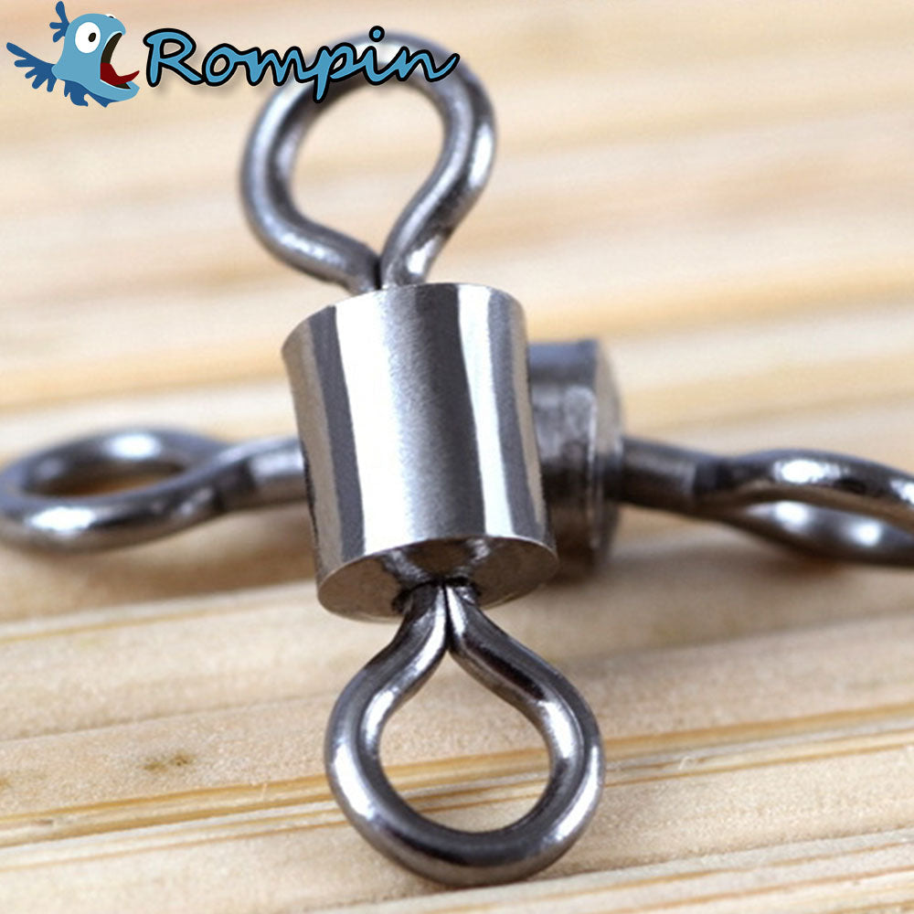 Fishing Trends Online Tackle Shop:Swivel Rompin 50PCS Stainless Steel Ball Bearing Swivels Connector Tackle