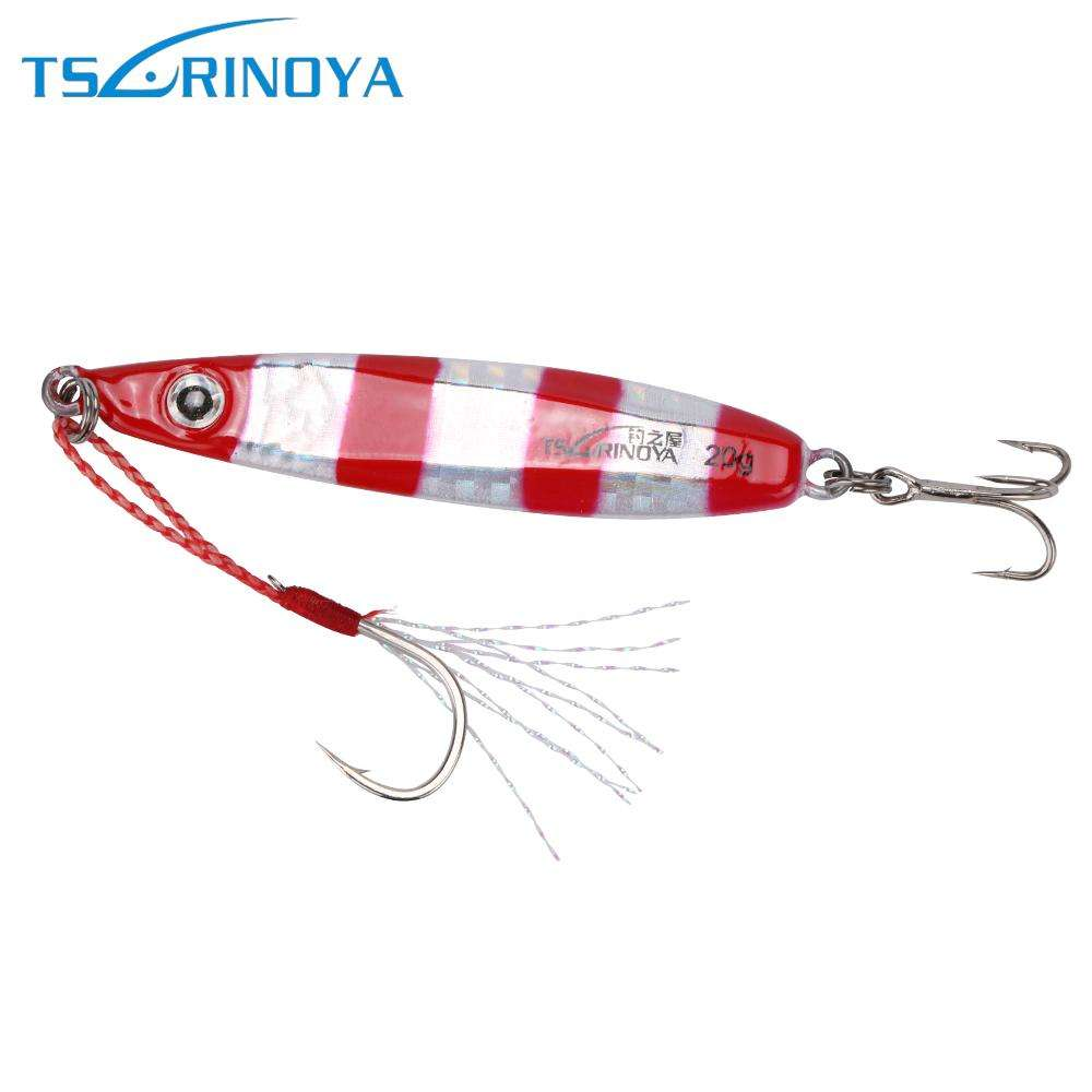 Lure Tsurinoya Metal Slow Pitch Jigging 20G/30G Small Spoon Jig Bait