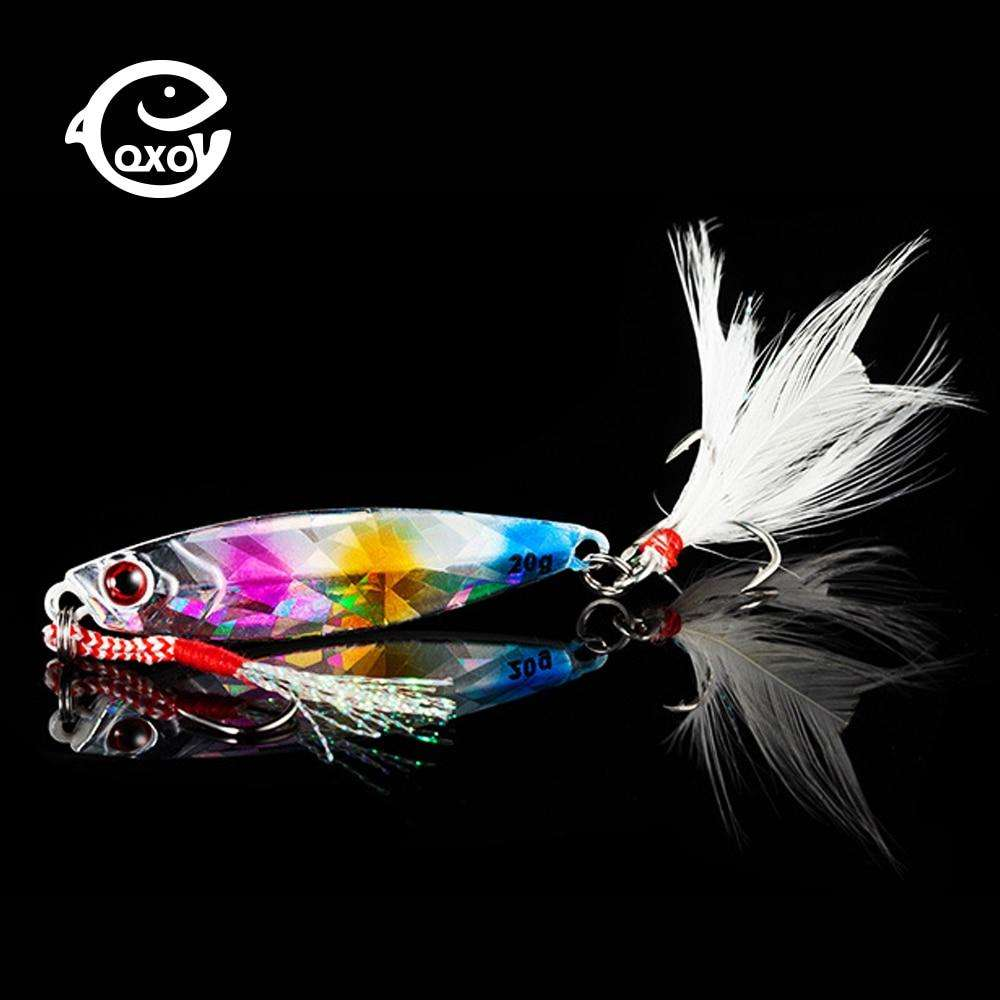 Fishing Trends Online Tackle Shop:QXO Fishing Lure 10 20 30g Jig Light Silicone Bait Wobbler Spinners Spoon Bait Winter Sea Ice Minnow Tackle Squid Peche Octopus