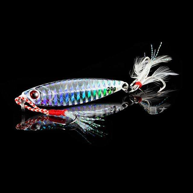 Fishing Trends Online Tackle Shop:QXO Fishing Lure 10 20 30g Jig Light Silicone Bait Wobbler Spinners Spoon Bait Winter Sea Ice Minnow Tackle Squid Peche Octopus,D / 5cm  10g