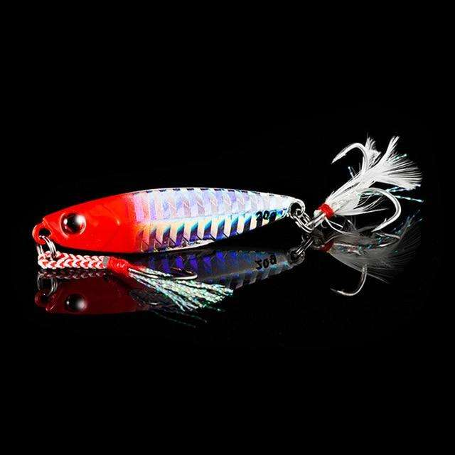 Fishing Trends Online Tackle Shop:QXO Fishing Lure 10 20 30g Jig Light Silicone Bait Wobbler Spinners Spoon Bait Winter Sea Ice Minnow Tackle Squid Peche Octopus,A / 5cm  10g